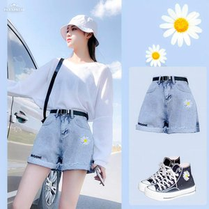 Denim shorts women's style comfortable and high waist summer 2020 design new thin style loose and skinny a-word ins hot pants