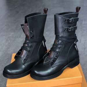 2020 Metropolis голеностопного Мартин сапоги женщины ковбойских ботинок Ranger Combat Загрузочные полусапожки из телячьей зимы Открытой Шнуровка пояса пинетки с коробкой