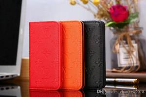 2019 새로운 큰 꽃 브랜드 디자인 플립 지갑 가죽 케이스 휴대 전화 커버 아이폰 XS 최대 Xr X 7 7plus 8 8plus 6 6plus 카드 슬롯