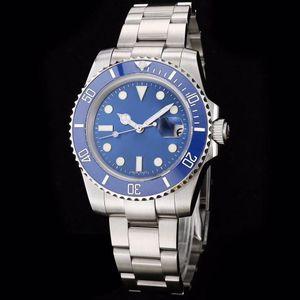 Relógio mecânico automático dos homens de alta qualidade venda quente 116619LB 40mm mostrador azul 2813 movimento automático cinta de aço inoxidável