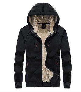 NEW Men's hooded Plus velvet thick sweater coat plus size cardigan cotton men's jacket coat Outerwear Tops COATS JACKETS