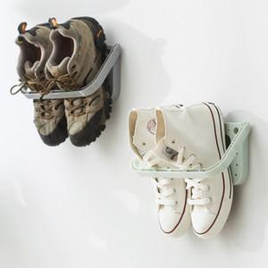 Yeni 1pc Sorunsuz Duvara monte Ayakkabı Ev Depolama Üç boyutlu Duvar Terlik Raf Yüksek Topuklar Spor Ayakkabı Depolama Rack