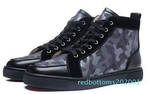 2019 Red Bottom Designers Casual Shoes Sneakers Black Orlato Flats High Top Party Lovers Ladies Ace Genuine Leather Mens Womens Shoes r01