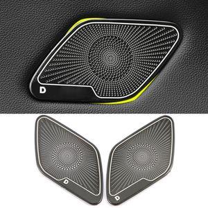 لفولكس واجن فولكس فاجن جولف Mk7 7.5 2013-2020 الفولاذ المقاوم للباب السيارة لوحة مكبر الصوت وسادة رئيس الغلاف تريم الإطار اكسسوارات لاصقة