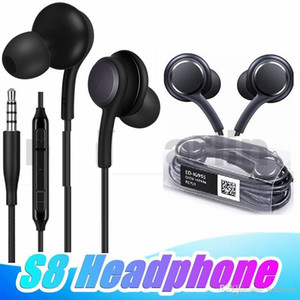 S8 Earphone 3.5mm Jack Volume Control Mic Earphones Headphone Earbuds for samsung s7 s8 plus s6 note 8 9 with box