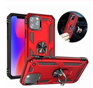 Antiurto Armatura Kickstand della cassa del telefono di iPhone 11 Pro XR XS Max X 6 7 8 6S Inoltre Dito magnetico del supporto dell'anello anticaduta copertina