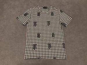 20ss hombre de las camisetas tee letras parís flores Guerra Corona caballo tótem imprimir ropa camisas de manga corta de los hombres de las mujeres reales Nueva
