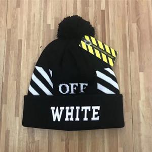 Venta al por mayor diseño más nuevo bordado de alta calidad otoño invierno negro gorro blanco sombrero unisex mantener caliente gorro de punto cálido gorro marca gorros