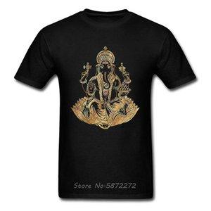 Mode d'Or Ganesha hommes T-shirt élégant Dieu numérique Imprimer la Journée Homme Famille cadeau T-shirt Père T-shirt T-shirts