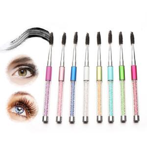 Moda Portátil Cílios Escova Pincel Espiral Pentes Mascara Varinhas Coloridas Lidar Com Pestana Sobrancelha Pente Combs Maquiagem Ferramenta LJJT372
