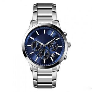 최고 2020 남성 WatchStainless 스틸 브랜드 패션 캐주얼 군사 석영 스포츠 시계 가죽 스트랩 남성 시계 relogio masculino -11