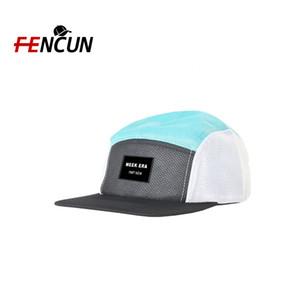 Özel Spor Ayarlanabilir 5 Panel Trucker Gorras Full Mesh Şapka Ve Cap ile Elastik Geçiş Nakış Nefes Snapback Cap Koşu