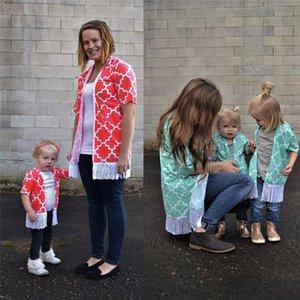 가족 T 셔츠 새로운 패션 여성 유아 아동 아기 소녀 가족 의류 개의 Tassels T 셔츠 티 최고 엄마 딸 의류 일치