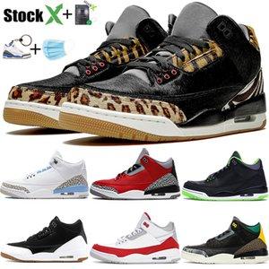 Le nuove scarpe da basket Jumpman UNC istinto animale 2.0 SE rosso fuoco Tinker nero bianco moda gomma degli uomini di lusso di marca scarpe da ginnastica