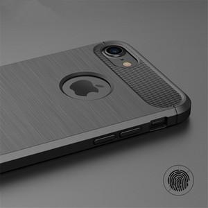 Ultra mince étui en silicone pour iPhone X XR XS MAX SE 5 6 5 S 6S 7 8 __gVirt_NP_NNS_NNPS<__ Couvertures en caoutchouc plus en fibre de carbone