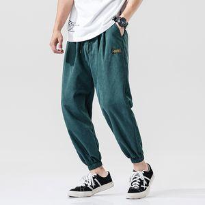 2020 Spring Summer Harem Pants Men Lightweight Cotton Ankle-Length Loose Mens Joggers Pants Casual Men Trousers 4XL 5XL T200615