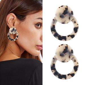 4x4.8cm Acetic Acid Plate Boucles d'oreilles Femmes Mode Cadeaux Charm Bijoux Leopard Goutte Boucle d'oreille en ronde Eardrop