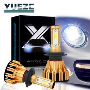 Yueze T6 Series Yellow White Color 2 Pcs H7 H8 9 11 9005 9006 9012 5202 H4 H13 9007 9004 6500K LED Headlight Bulb Car Light 12V