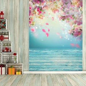 Impresión de la flor tabulan el fondo del paño del arte Estudio pared Telón de fondo Family Party Festival Prop accesorios decorativos