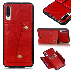 Para Samsung A21 A51 A71 A81 A91 A10 A20 A30 A40 A50 M10 M20 M30 A50S S10 Plus caja de la carpeta portatarjetas de cuero cubierta de la caja para Samsung A50