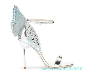 Vente-Femmes Hot Colorful Sandales papillon cheville Wrap Angel Wings Stiletto Escarpins Gladiator Sandales Parti Chaussures de mariage femme s10