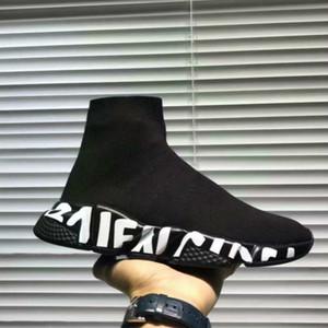 Designer quente da sapatilha Speed Trainer branco preto Homens Mulheres Meias Sapatos Casual Botas velocidade Runner com o saco de poeira Arthur