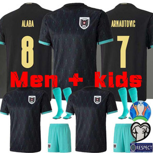 20 21 maillot de foot Autriche Alaba Arnautovic Sabitzer Grillitsch chemisettes enfants national homme de l'équipe de football des chemises noires Prödl