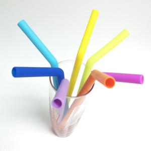 Nuovo Silica-gel alimentare pipetta pieghevole pipetta pipetta bevanda per i bambini può essere riciclato