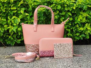 marque glitter petite bandoulière + portefeuilles + porte-cartes ensembles famille de paillettes grande petite mini crossbodys sacs à main designer 5 couleurs