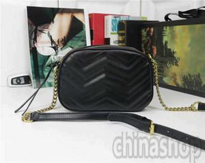 Мармон мешок камеры кожа цепь Кроссбодите плечо сумка 6 цветов выбор классической мода новый пакет Любви