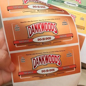 Cheap DANKWOODS MOONROCK PRE-ROLL Hot Gummie bags Cherry AK-47 purple punch Label Stickers For Joint Tubes Packaging