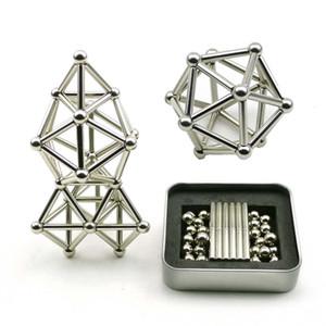 Zhenwei 36 PCS Magnetic Sticks & 27 PCS Steel Balls Toy Magnetic Puzzle Fidget Toy Sticks Construction STEM Toys SH190913