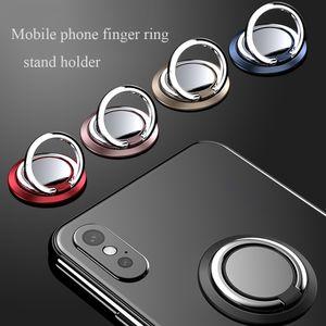 Universal 360 Rotação Phone Slim dedo anelar Stand Holder alta qualidade Metálicos Telefone Suporte soquete acessórios do telefone celular