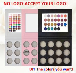 DIY 12colors Lidschatten-Set leer Lidschatten-Palette mit Einzel Bling Glitter matt Powder kein Logo akzeptieren angepasstes Logo