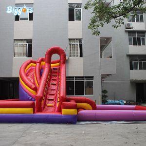 Grau Comercial inflável água Slide deslizar withe grande piscina Bouncy Combo