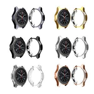 46mm Plating TPU Scratch Resist Frame Funda protectora Shell para Samsung Gear S3 Galaxy S4 Classic Reloj