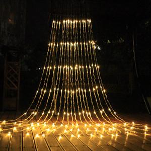 3xm 6x3m 640 Светодиодный Водопад Строка Занавес Свет Светодиодов Поток Воды Рождество Свадьба Праздничное Украшение Фея Огни Строки водонепроницаемый