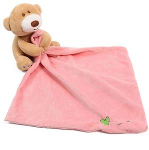 دب منشفة الطفل الرضيع دب يسترضي المناشف ... ... ألعاباللعابالهادئة Doll Teder Bath Animal Toy بطانيات كرتون Bibs الشحن المجاني WZW-YW3439