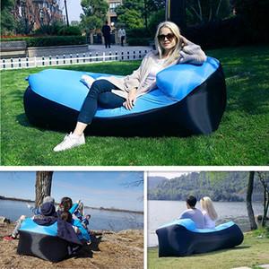 Neue Kissen Gas aufblasbares Sofa Tragbare fauler Bean Bag Chair Strand Pool Park Hinterhof Indoor Outdoor Freizeit Camping Air Lounger Bed
