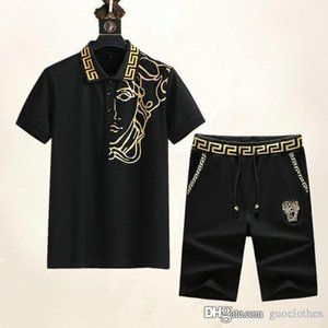 2020 mens designer tracksuits Fashion mens tracksuit Embroidery Luxury Summer Sportswear Short Sleeves Pullover Medusa O-Neck Sportsuit