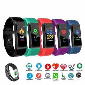 ID 115 плюс умный браслет для экрана Фитнес-трекер шагомер часы счетчик сердечных частот монитор артериального давления Умный браслет