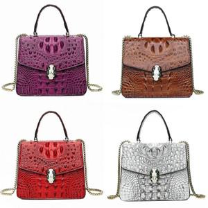 Designer Crocodile Shoulder Bag Geometric For Women Chain Single Bag Classic Crosbody Messenger Bag France Paris Style Crocodile Shoulder#973
