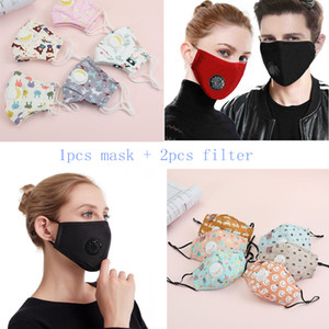 high quality mascarillas Filter PM2.5 Air Pollution Anti Dust and Nose Protection Reusable with Breathing Valve Face Mask Designer masks