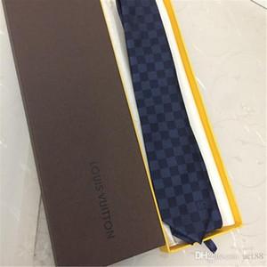 브랜드 새로운 실크 남성 넥타이 브랜드 실크 넥타이 고품질의 목 넥타이 캐주얼 비즈니스 넥타이 좁은 판 8.0 센치 메터 선물 상자 포장 넥타이