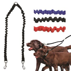 Doppia Guinzaglio elastico bungee Pet accoppiatore cavi a piedi per 2 Doppia cani guinzagli Splitter 3 colori disponibili