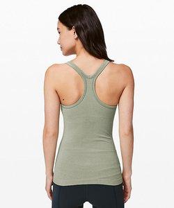 en forma de Y LU-13 Mujeres Yoga Ebb Hasta Calle Tanque II Clásico entrenamiento sin fisuras Chaleco Con el cojín del pecho sin respaldo Gimnasio Correr: Sports Shirts