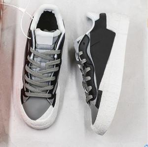 SB Blazer Low Chaussures Hommes Casual Femmes Broderie Sneakers Skateboard Chaussures Blanc Noir Jaune Bleu formateurs mens