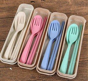 Logo Squisito grano Environmental Health Platycodon paglia Posate per campeggio Tablewarel forcella del cucchiaio bacchette su misura