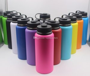 13colors 18oz 32oz 40oz Water Bottle Vacuum Insulated Bottle 304 Stainless Steel Water Bottle Wide Mouth Big Capacity Travel Mugs with lids