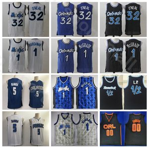 Basketball Mohamed Bamba Jersey Tracy McGrady Shaquille ONeal O Neal Penny Hardaway LP Penny Anfernee Jahrgang genähtes Schwarz Blau Weiß
